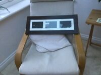 Next multi photo frame in dark wood. Unused. Can also be hung on wall