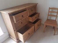 Bargain - Strong Wood Chest of Drawers - RRP 120 - (must go before Jan 19 )