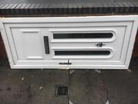 White upvc door and frame