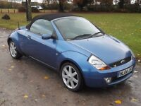 2004 FORD STREETKA LUXURY 1.6 CONVERTIBLE, MOT OCTOBER 2017, ONLY 80,000 MILES, ONLY £495