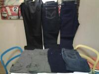 LADIES SIZE 14 .. LENGTH 29/30 .. 7 PAIRS OF JEANS+TROUSERS .. 5 NEW+UNWORN