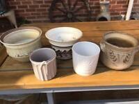 Lot of house plant pots