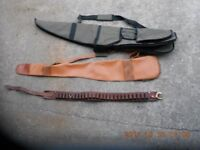 Individual gun covers and leather cartridge belt