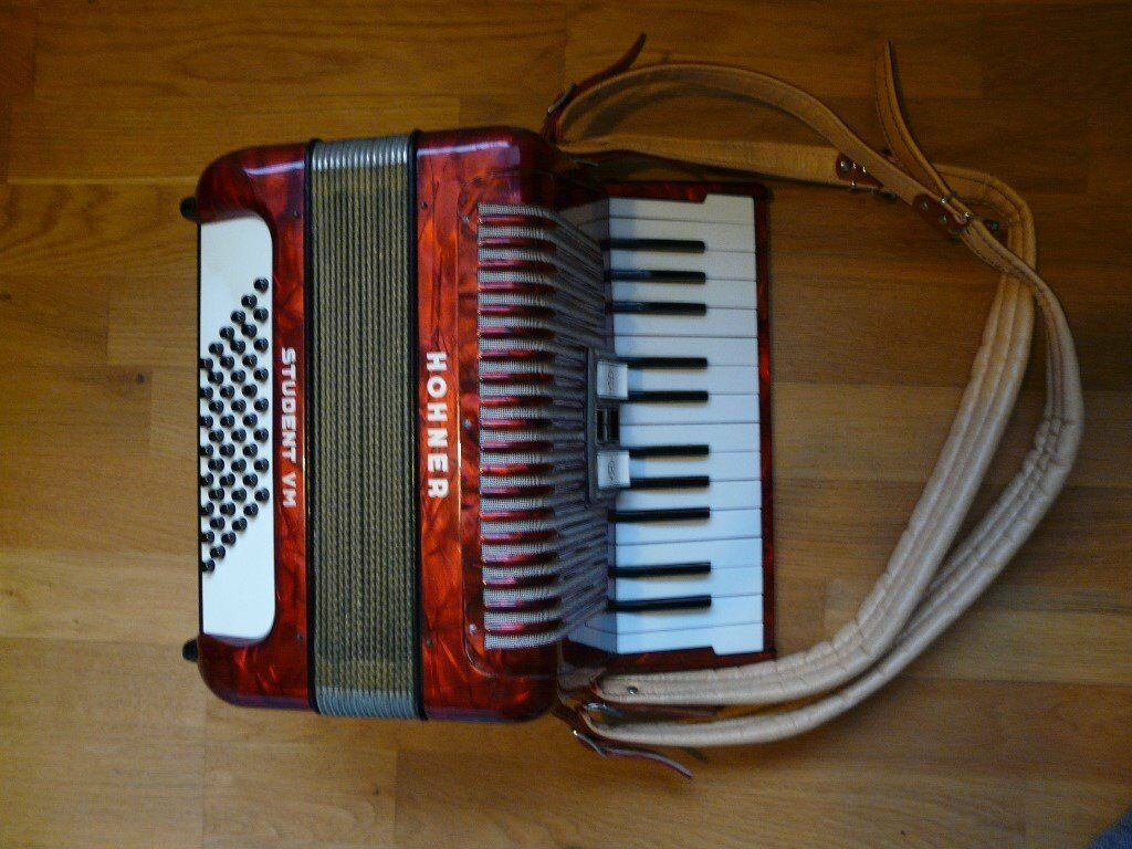 Hohner Student Vm 48 Bass Vintage Piano Accordion 163 250