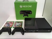BOXED XBOX One 500GB with *TWO* Original Controller & 2 Games (GTA V & NBA 2K15)