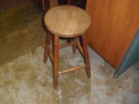 FOR SALE Vintage Elm & Beech Sturdy Old Stool