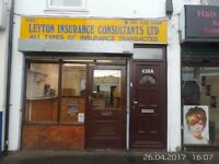 Shop to let on Leyton High Road