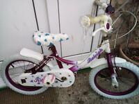 Raleigh girls bike suit 5-8 years old