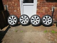Genuine Audi A3/A4/A6 Alloy wheels with tyres