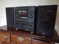 Aiwa compact Hi Fi and speakers