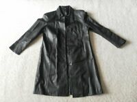 Ladies M&S black 100% leather coat. Size 14 . Excellent Conditiion