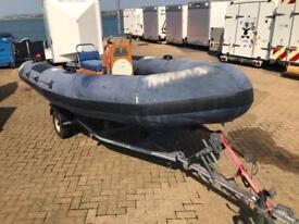 Powerboat Rib 420 including Trailer