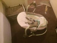 Musical swinging chair