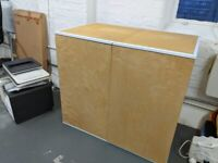 Industrial style office cupboard plywood and metal