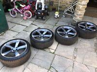 """20"""" Audi Black Edition Rotors Alloy wheels - WILL FIT AUDI A4 A5 A6 A7 A8"""