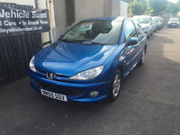 Peugeot 206 1.1 Petrol 3 Door Manual Hatchback Stunning Car HPI Clear