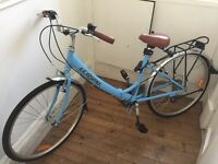 Ladies Folding City Bike nearly new Blue retro style