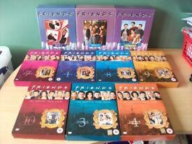 Lot of 10 Friends DVD Box Sets complete tv series, jennifer aniston, courteney cox, matt leblanc