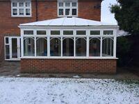 Large white used conservatory