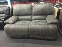 NEW/EX DISPLAY LazBoy Grey Recliner 2/3 Seater Sofa