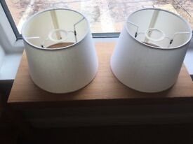 Two white/cream ceiling light hades for sale