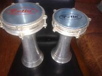 Pair of Turkish darbuka drums. Pelin size 2 and 3.