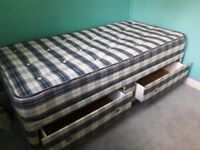 excellent condition, well sprung mattress and two drawers