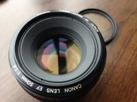 Canon EF 50 mm-f/1.4 USM Lens - Excellent Condition