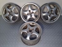 "Alutec 4x100, 15"", 7J deep dish ALLOY WHEELS, Original, not bbs, borbet, azev, zender"