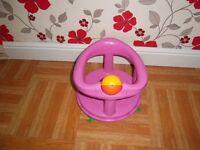 Pink bath seat