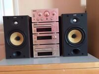 Teac hi fi model Ah300 & Bowers wilkins 601s2 speakers studio sound