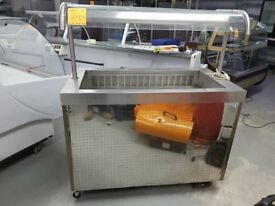 COMMERCIAL STAINLESS STEEL SALADETTE ON WHEELS AST012