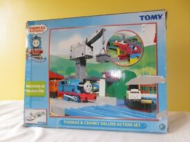 Thomas & Cranky Motor Road & Rail Set