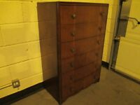 VINTAGE SIX 6 DRAWER CHEST OF DRAWERS FREE DELIVERY