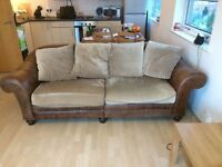 Brown Half Leather Sofa