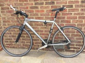 Mens Scott Sub 40 Cross Hybrid Bicycle - Silver