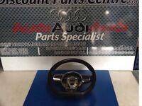 Audi TTS flat bottom steering wheel