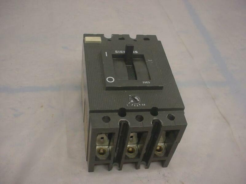 100 Amp Siemens Electric Heavy Industrial 3VE5201 Circuit Breaker 3VE5  E399