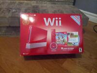 Red Wii with games