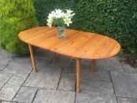 Solid PINE dining table SEATS 6-8 solid pine EXTENDS