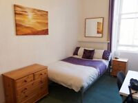 Good size bright room to rent only £375, bedsit let in west end, includes council tax & heating