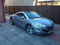Peugeot RCZ 1.6 THP 156 Bhp In Mercury Grey With Cream Leather 13,200 miles and FSH