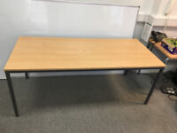 Sale of office furniture, 6 tables and 1 cabinet