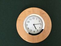 "Electric Wall Clock PINE 10"" diameter"