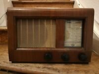 Vintage Ever Ready Sky Prince Brown Wooden Radiogramme LW MW Prop Radio