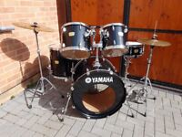 Yamaha YD Rock Drum kit with Zildjian cymbals