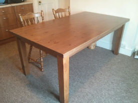 Large IKEA solid pine dining table