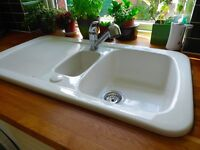 White ceramic sink