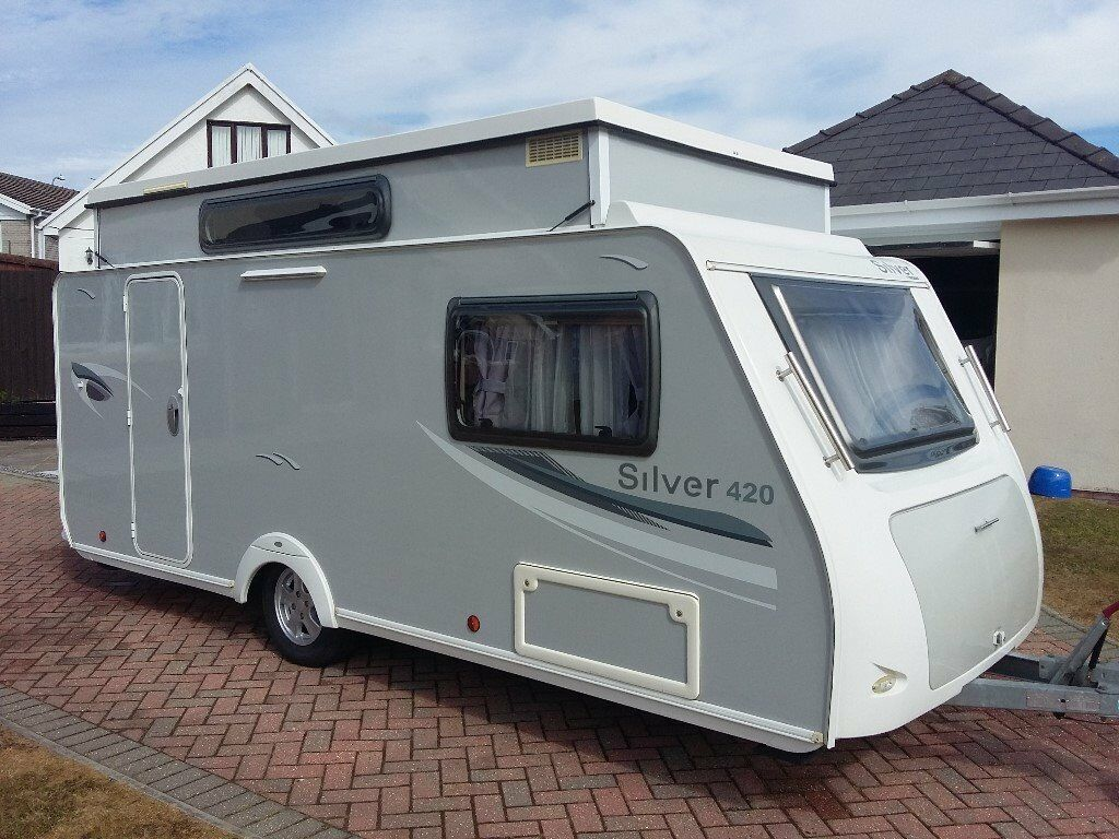 Trigano Silver 420 dd Lightweight Pop-Top Caravan and Walkers Awning -  Excellent Condition | in Carmarthen, Carmarthenshire | Gumtree