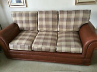 Klaussner 3 Seater Sofa (part Leather and Textile)